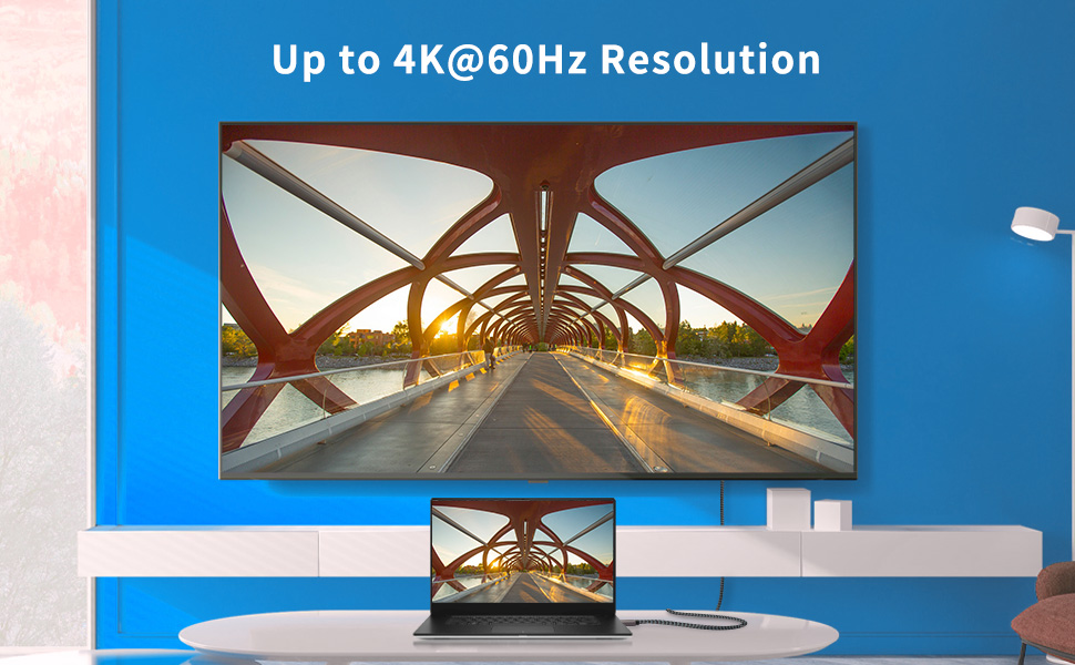 4K HDR Mini HDMI Cable( Up to 4K@60Hz Resolution)