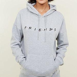 Grey Loose Friends TV Show Hoodie