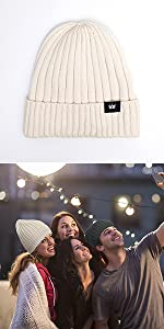 Wool Cuffed Knit Beanie Hat Soft Hats for Men & Women Unisex Winter Warm Hat