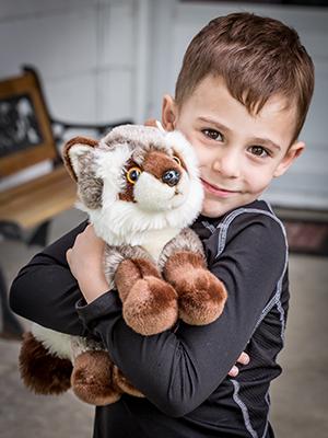 plush raccoon stuffed animal boy girl wildlife friend