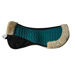 Faux Fur/Sheepskin Horse Half Pads-Peacock Green