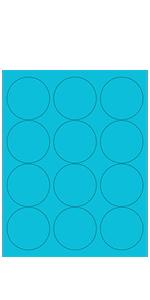 """Blue Fluorescent, 2.5"""" Round"""