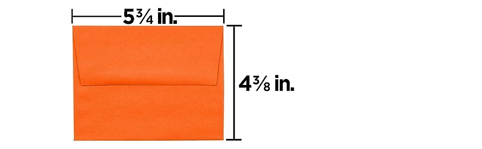 orange A2 colored envelope