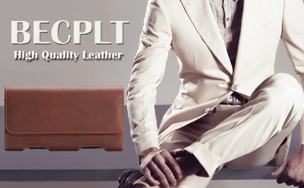 BECPLT High Quality Leather holster case
