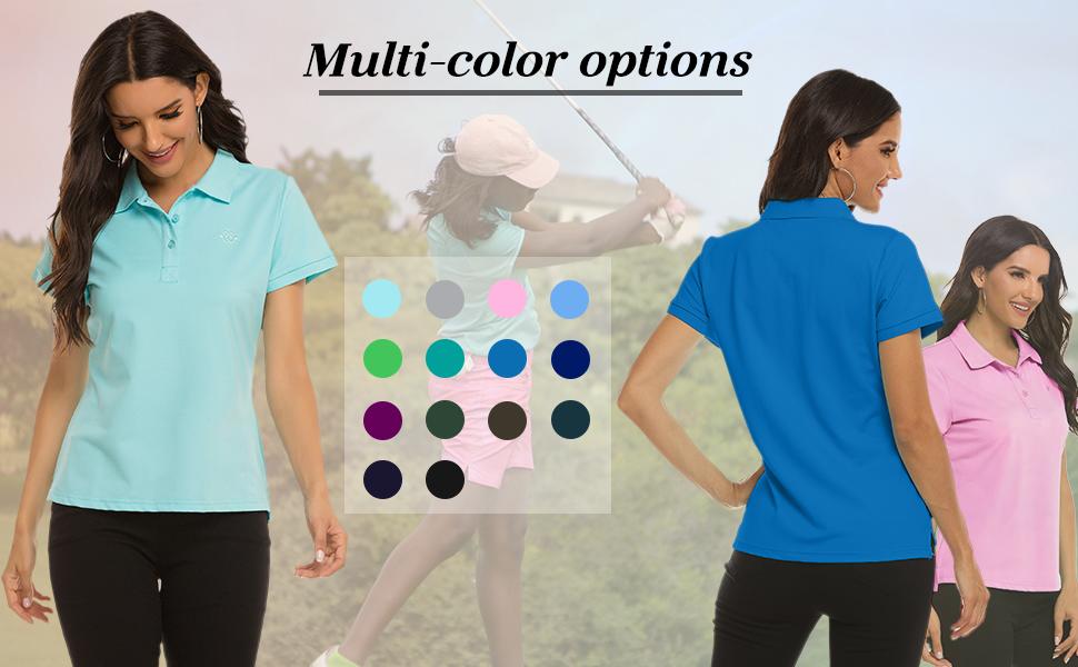 Women Golf Polo Shirt Fashion Sport Shirts
