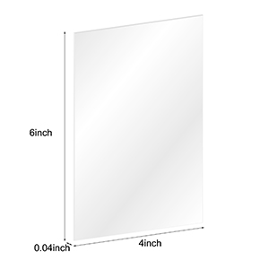 Thick,Shatterproof Clear Acrylic Sheets