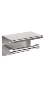 toilet paper holder no drill brushed nickle