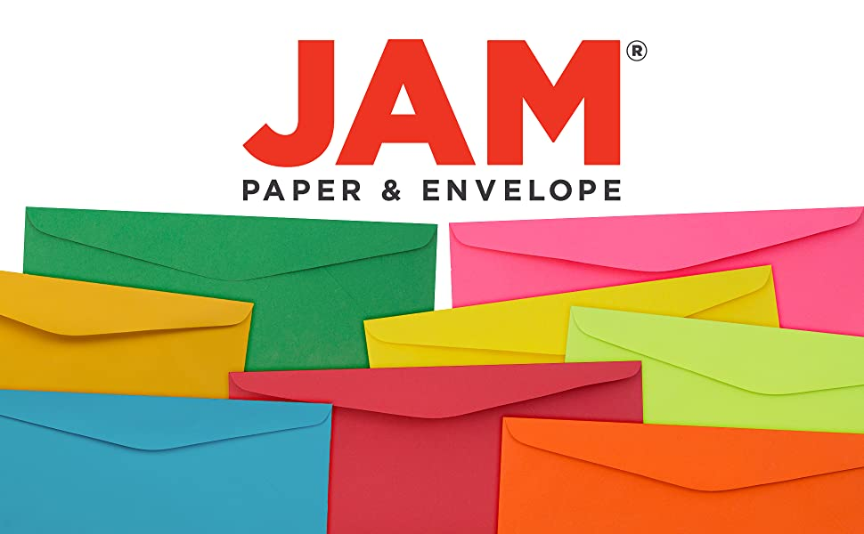 jam paper #9 business colored envelopes