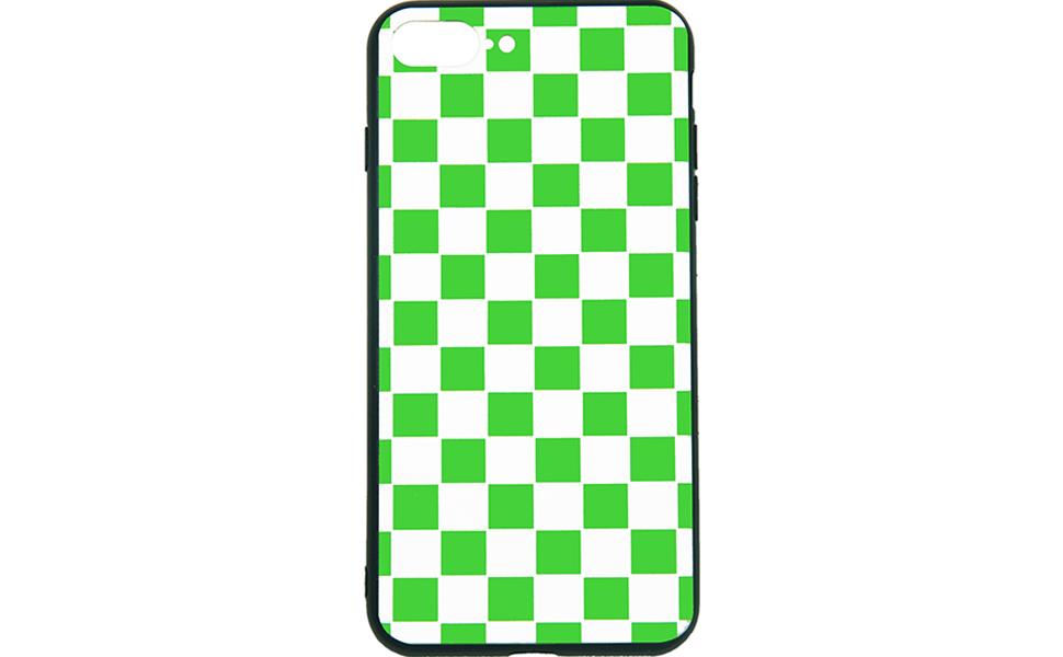 green white grid case