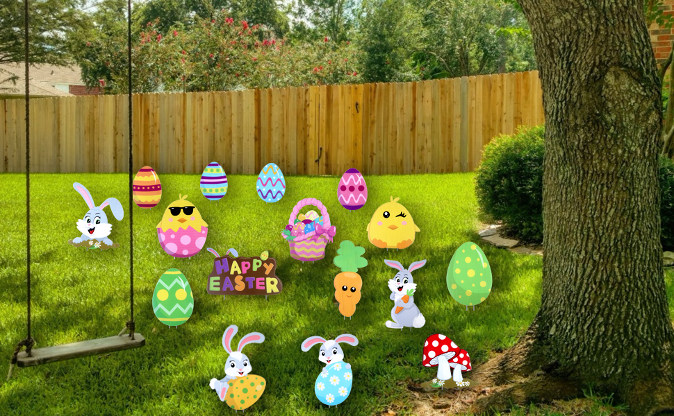 Easter Yard Signs Decorations