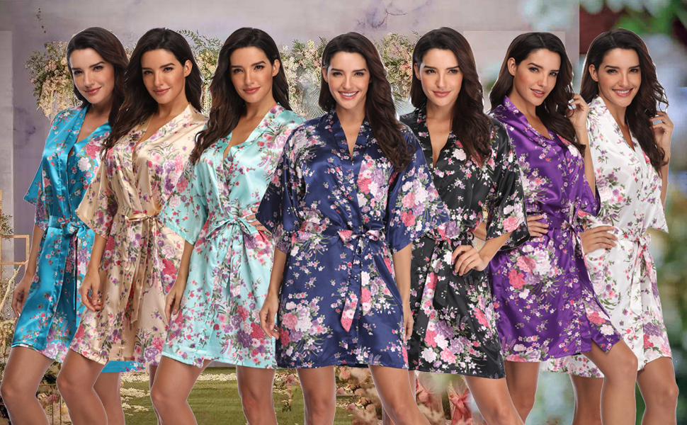 satin robes for women silk robes for women
