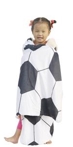 SKOLOO soccor blanket hooded blankets for kids hoodie blanket Christmas gifts in winter