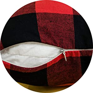decorative throw pillow cover bedding red and black with zipper home decor soft comfortable cozy