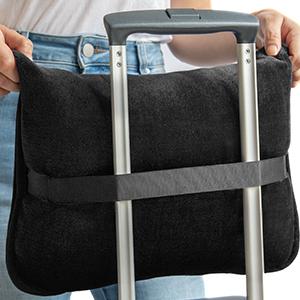 EverSnug Travel Blanket on Suitcase