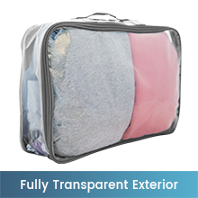 Large see through packing cube