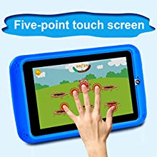 Five-point touch screen