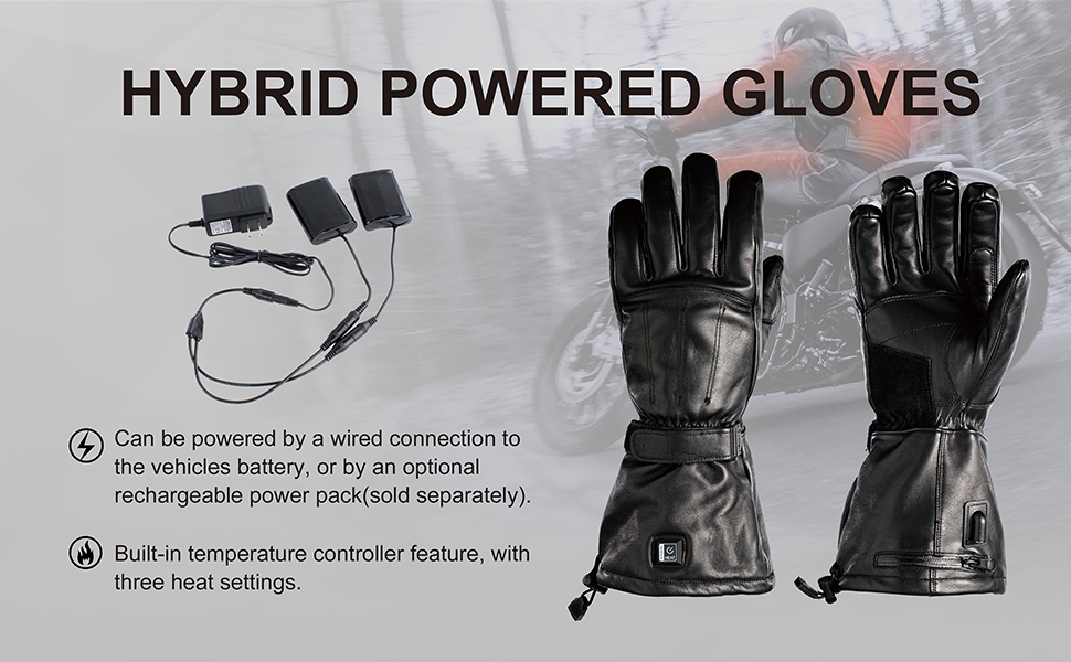 venture heat gloves motorcycle accessories bike mc1645 heat hybrid