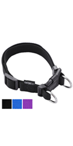 Siumouhoi Durable Adjustable Nylon Dog Collar, 1 Inch Wide with Double Ring Adjustable Quick Release