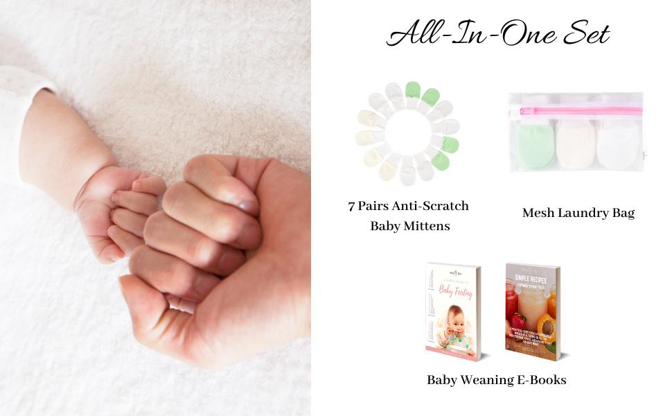 Anti-Scratch Baby Mittens