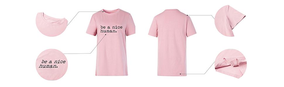be a nice human shirt women