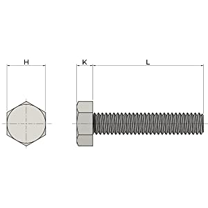 """3/8-16x2"""" Stainless Steel Hex Head Screws Bolts"""