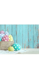 Easter Spring Photography Backdrops Blue Wood Easter Photo Background