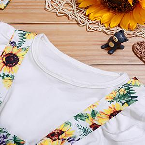 Toddler Infant Baby Girl Clothes Ruffle Sleeveless Summer Princess Boho Floral Sunflower Skirt