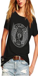 Womens Vintage Short Sleeve T Shirts