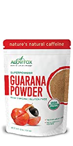 Organic Guarana Seed Powder by Alovitox
