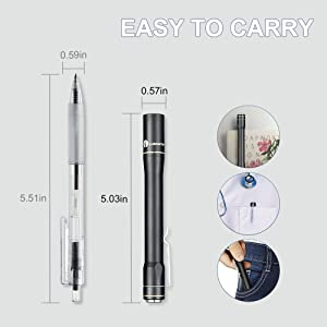 EDC Pen Flashlight Pocket Size