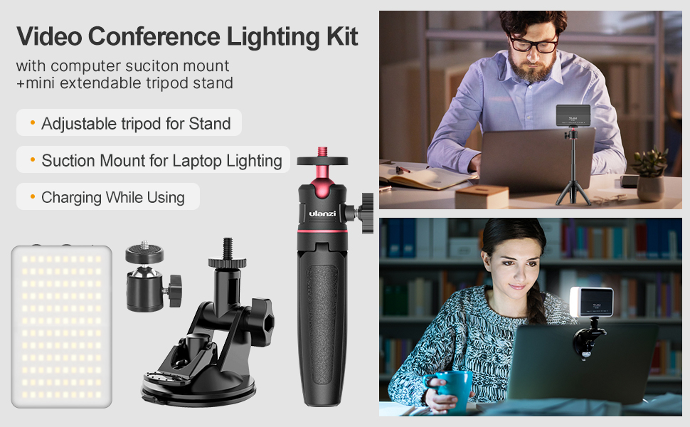 laptop video conference lighting