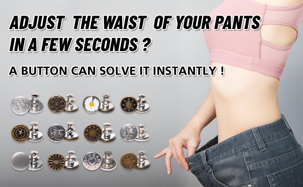 adjust pants button