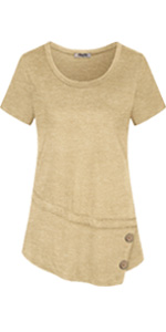 summer short sleeve tunic tshirt tops for women