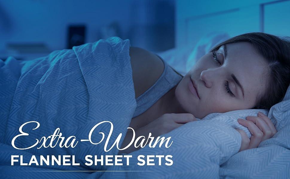 Cotton Heavyweight Velvet Flannel Sheet Set Plaid Flannel Sheet Set - Queen, Plaid Cotton 4 Piece