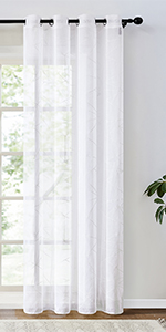 patterned sheer curtains