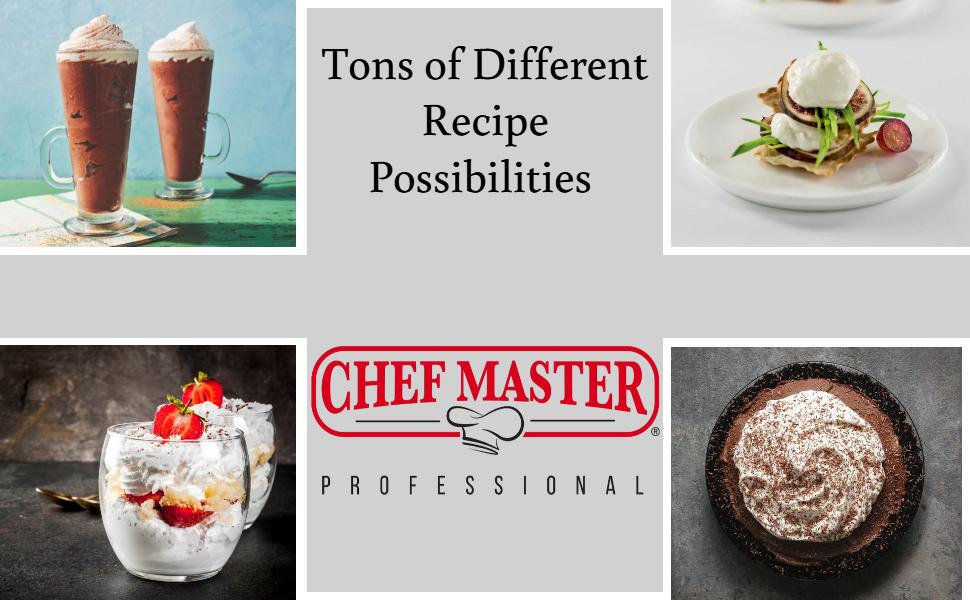 chef master whipped cream dispenser homemade whipping cream cream chargers stainless steel cream