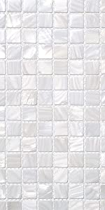 Soulscrafts Pure White Oyster Mother of Pearl Square Shell Mosaic for Kitchen Backsplashes-11