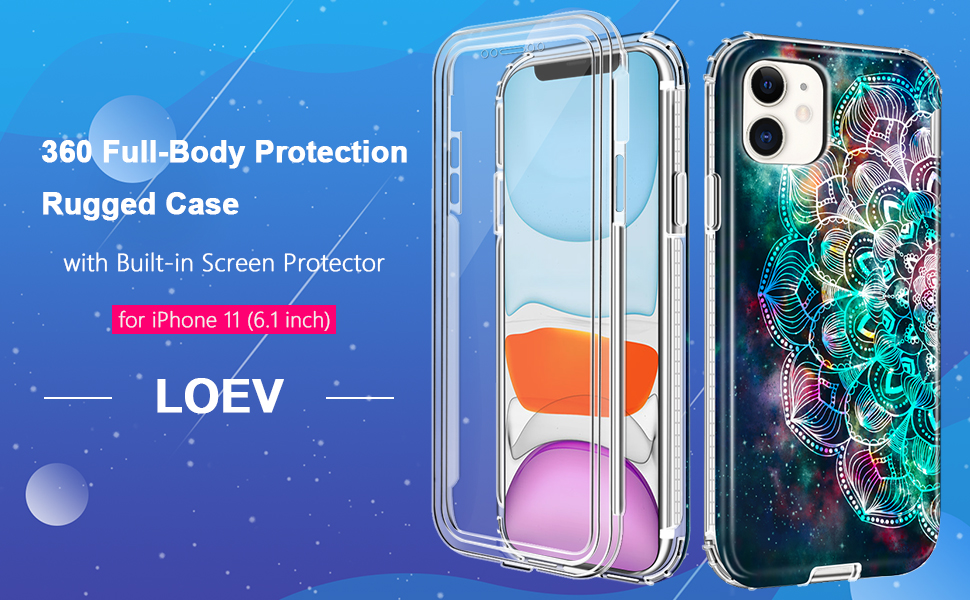 iPhone 11 Case with Built-in Screen Protector