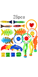 25 Pieces Diving Toys