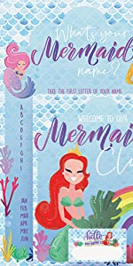 mermaid name game mermaid party games mermaid party supplies and decorations mermaid themed favors