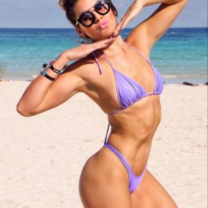 Bikini Set Bandage Solid Brazilian Swimwear Two Pieces ... Women's Hot Brazilian Bikini Bottom Thong