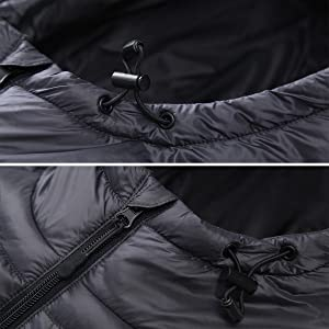 hooded puffer jacket men