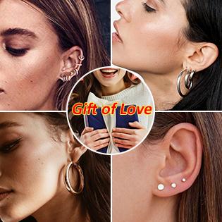 sterling silver huggie hoop stud earrings for women