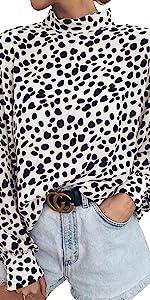 Casual Leopard Print Chiffon Shirts