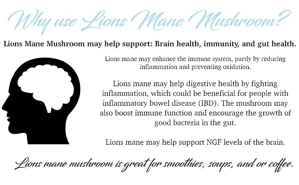 lions mane mushroom, organic lions mane mushroom powder, lions mane mushroom health