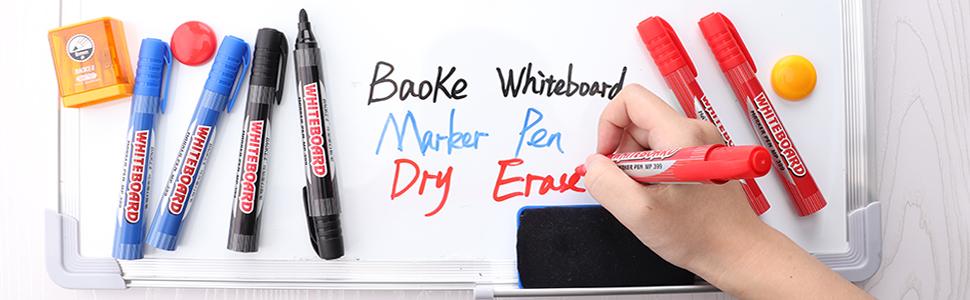 BAOKE Thin Dry Erase Markers  MP399 Black
