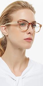 round reading glasses women's yellow reader fashion magnifing eyeglasses 0 1.0 1.5 2.0 2.5 3.0 3.5