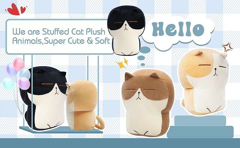 DENTRUN Stuffed Cat Plush Pillow