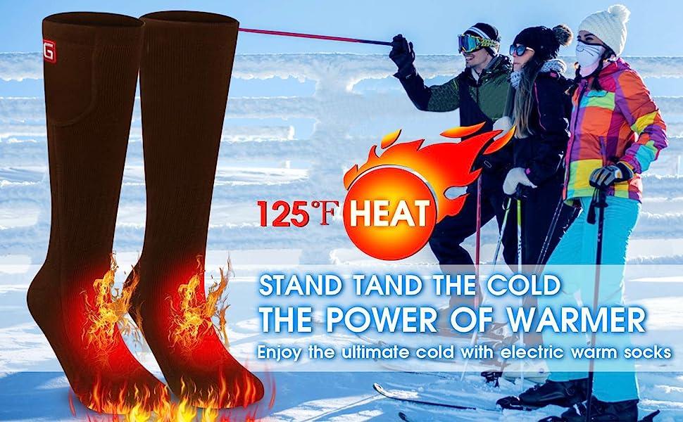 heated socks for women and men men's socks for cold weather
