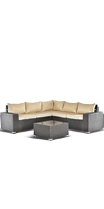 6 PCS Sand Outdoor Furniture